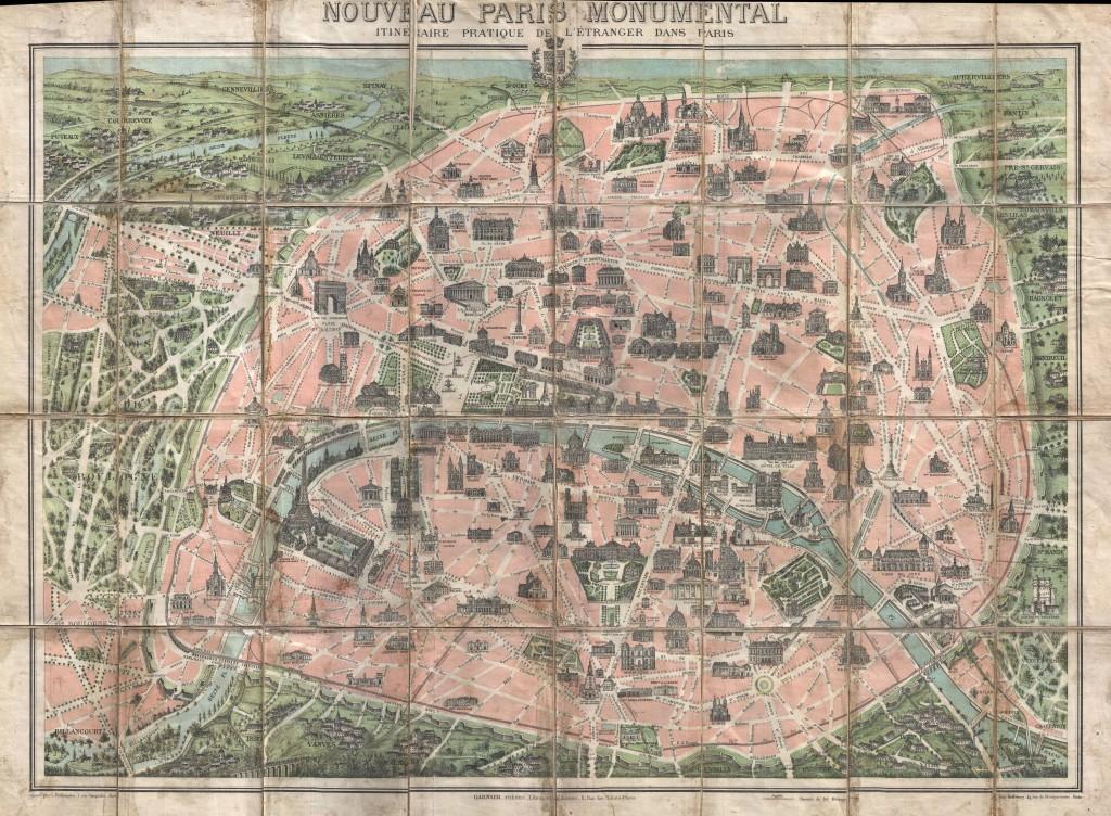 Map of Paris, 1900