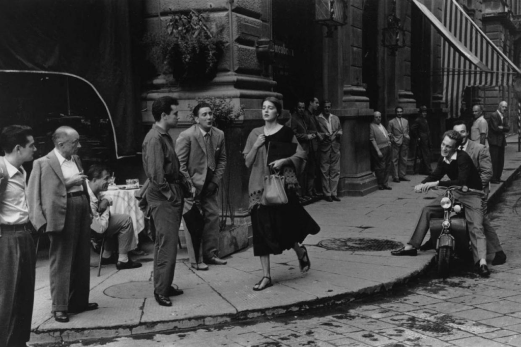 unwanted-attention-above-american-girl-in-italy-florence-1951-by-ruth-orkin-orkin-engel-film-and-photo-archive