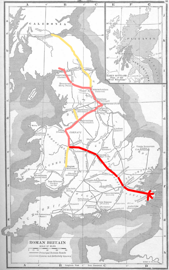 Map of Watling Street